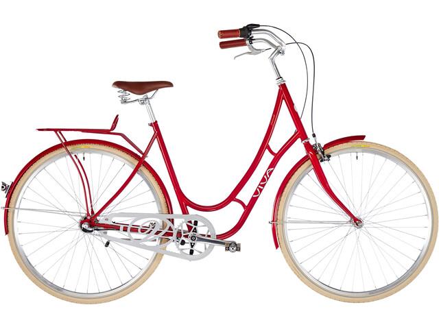 Viva Bikes Juliett Entry Damer, dark red